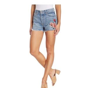 GRLFRND Cindy High-Rise Floral Embroidered Short